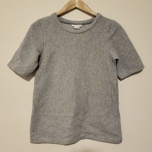 Boden Heavyweight Ribbed Short Sleeve Top Size 6